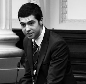 Jake Berthelot at the 2013 YMCA Youth Parliament