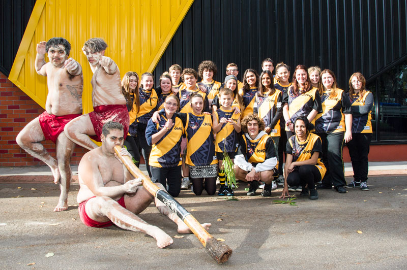 Didgeridoo artists and REAL Program participants during Dreamtime Week celebrations