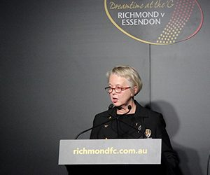 Richmond President Peggy O'Neal at Dreamtime at the 'G